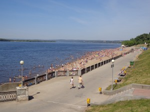 Volga beach in Samara