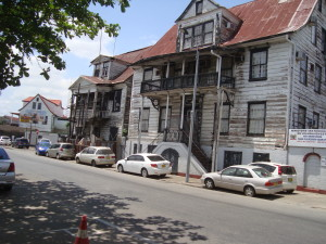 Wooden houses in Paramaribo