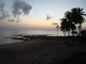 Atlantic Ocean at dawn from the hotel balcony