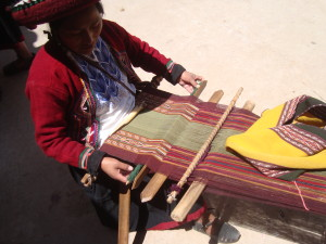 Weaving at Chinchero