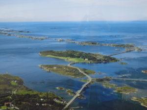 Atlantic Road aerial view - in the sun