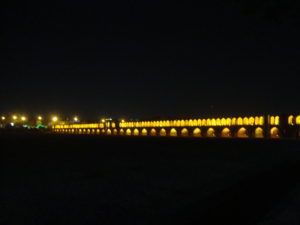 Se-o-se Pol bridge at night