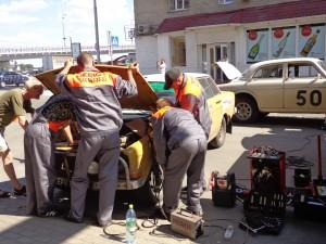Welding team on the Volvo