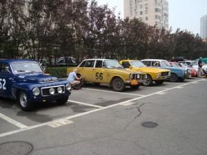 Hotel car park - rally style