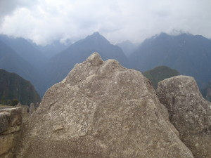 The Sacred Rock, mirroring the mountains behind