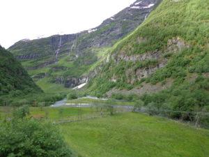 Flam railway landscape