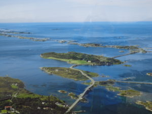 Atlantic Road aerial view - in the sun