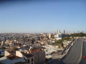 Istanbul from hotel balcony